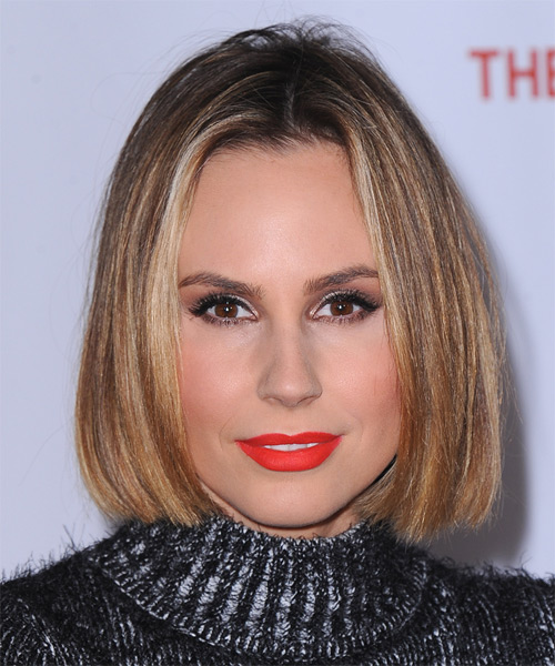 Keltie Knight Medium Straight Bob Hairstyle - Light Blonde (Golden)