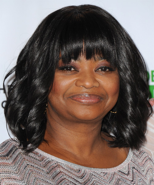 Octavia Spencer Medium Wavy Formal Hairstyle