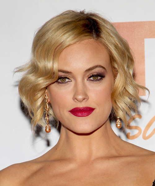 Peta Murgatroyd Short Wavy Hairstyle - Medium Blonde (Golden)