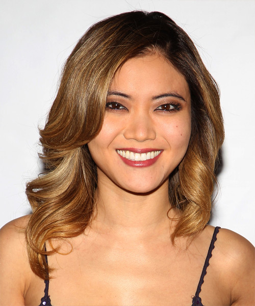 Jessica Lu Long Wavy Hairstyle - Medium Brunette (Golden)