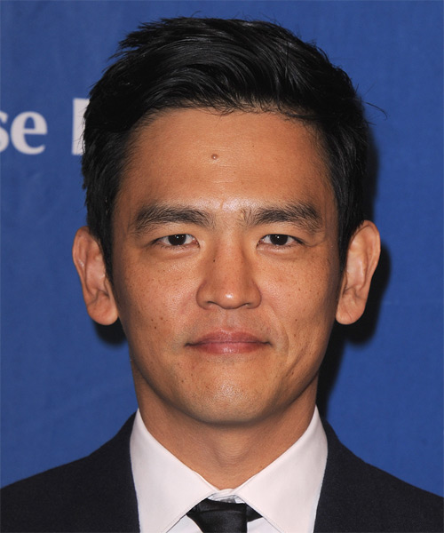 John Cho Short Straight Hairstyle - Black