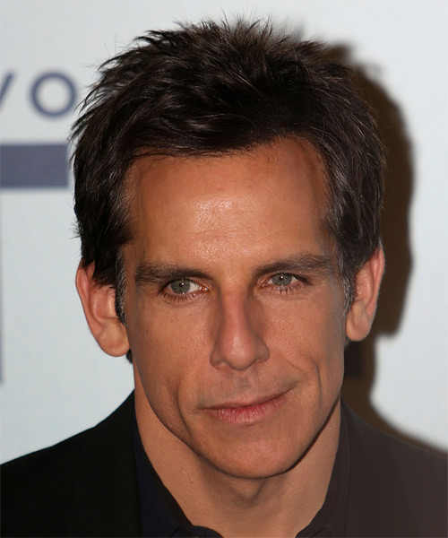 Ben Stiller Short Straight Hairstyle - Dark Brunette