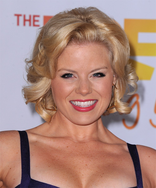 Megan Hilty Short Curly Hairstyle - Light Blonde (Golden)