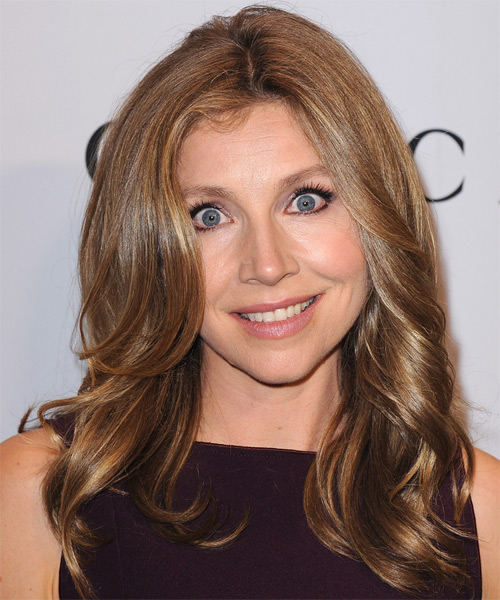Sarah Chalke Long Straight Hairstyle - Medium Brunette (Caramel)