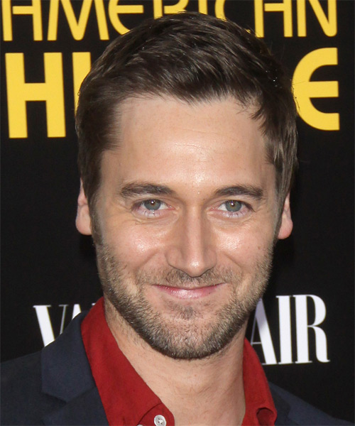 Ryan Eggold Short Straight Hairstyle - Medium Brunette (Ash)