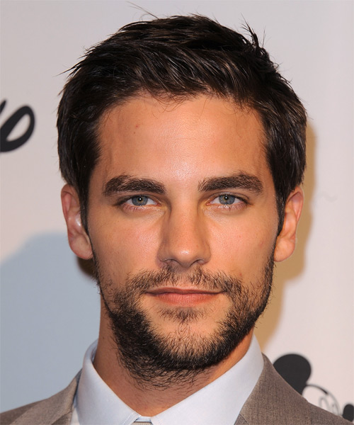 Brant Daugherty Short Straight Hairstyle - Dark Brunette