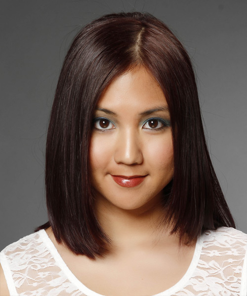 Medium Straight Formal Hairstyle - Dark Brunette