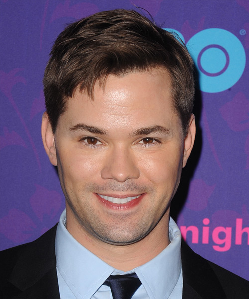 Andrew Rannells Short Straight Hairstyle - Dark Brunette