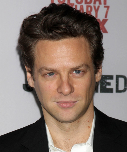 Jacob Pitts Short Wavy Casual Hairstyle - Dark Brunette Hair Color