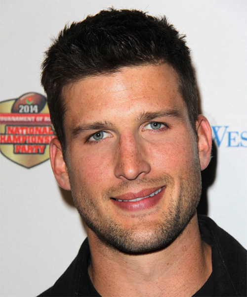 Parker Young Short Straight Casual Hairstyle - Dark Brunette (Mocha) Hair Color