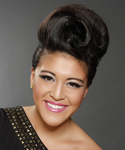 Formal Curly Updo Hairstyle - Black