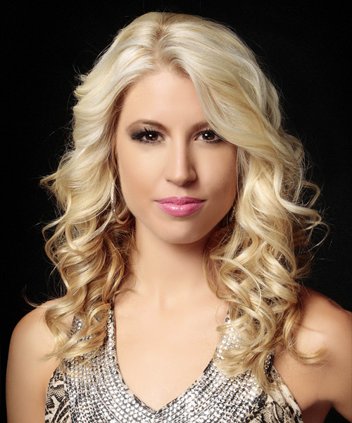Long Curly Formal Hairstyle - Light Blonde
