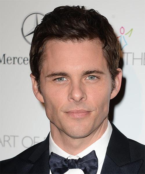 James Marsden Short Straight Hairstyle - Dark Brunette