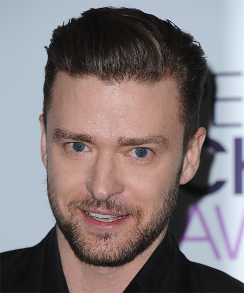 Justin Timberlake Short Straight Hairstyle - Dark Brunette (Ash)