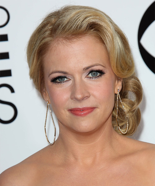Melissa Joan Hart Formal Curly Updo Hairstyle - Medium Blonde (Golden)