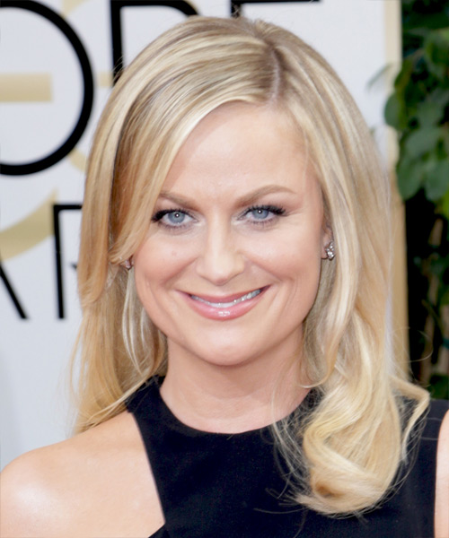 Amy Poehler Long Straight Hairstyle - Medium Blonde