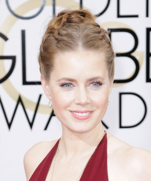 Amy Adams Curly Formal Updo Hairstyle - Light Red (Chestnut) Hair Color