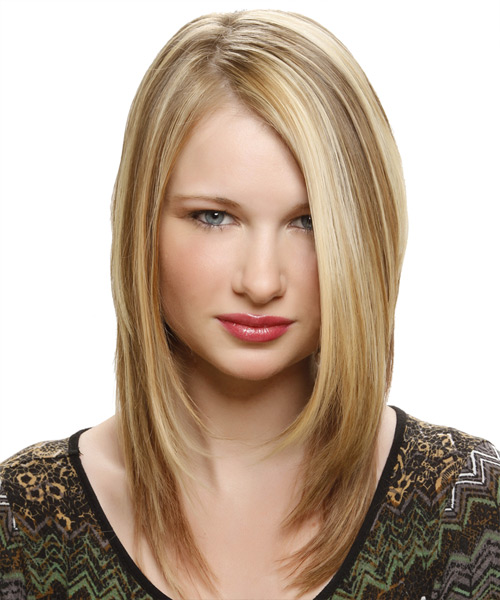 Medium Straight Alternative Hairstyle - Medium Blonde (Honey)