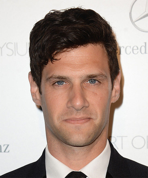 Justin Bartha Short Straight Casual Hairstyle - Dark Brunette Hair Color