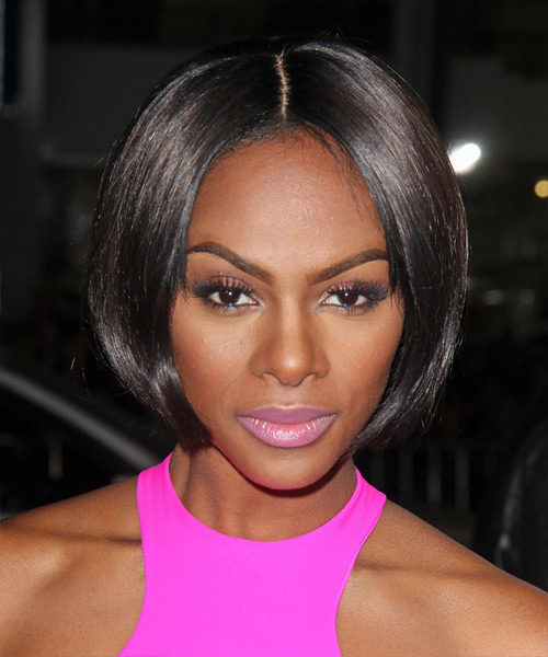 Tika Sumpter Short Straight Bob Hairstyle - Black