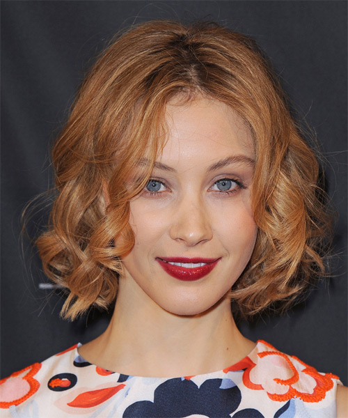 Sarah Gadon Short Curly Casual Hairstyle - Medium Red (Ginger) Hair Color