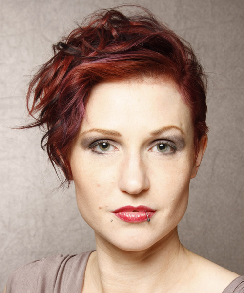 Short Wavy Casual Hairstyle - Medium Red Hair Color