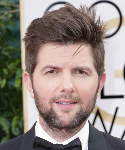 Adam Scott Short Straight Hairstyle - Medium Brunette (Chestnut)
