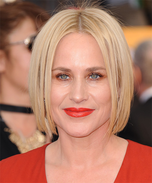 Patricia Arquette Medium Straight Formal Bob Hairstyle - Light Blonde Hair Color
