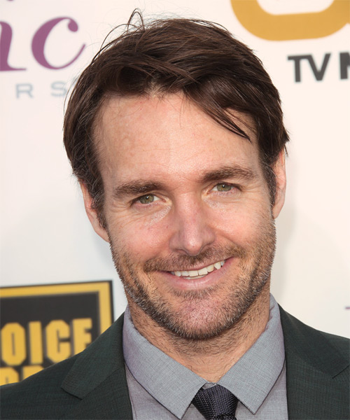 Will Forte Short Straight Hairstyle - Medium Brunette (Chocolate)