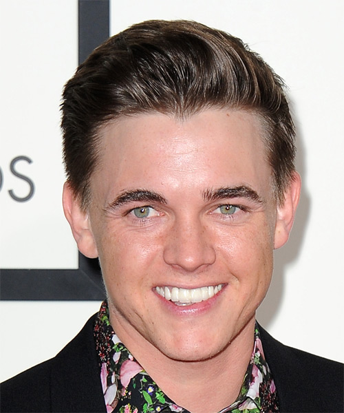 Jesse McCartney Short Straight Formal Hairstyle - Medium Brunette (Chocolate) Hair Color