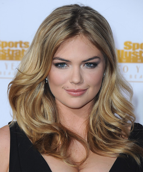 Kate Upton Long Straight Hairstyle - Dark Blonde