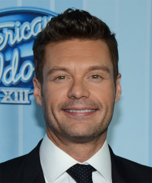 Ryan Seacrest Short Straight Formal Hairstyle - Dark Brunette Hair Color