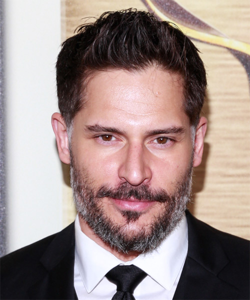 Joe Manganiello Short Straight Formal Hairstyle - Dark Brunette Hair Color