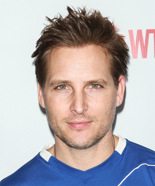 Peter Facinelli Short Straight Hairstyle - Medium Brunette (Ash)