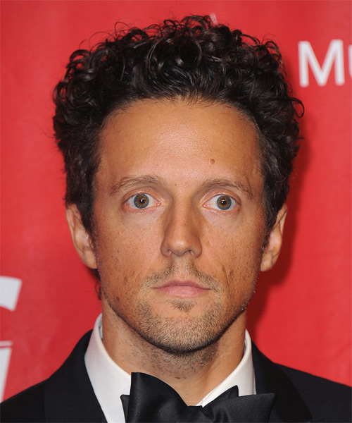 Jason Mraz Short Curly Casual Hairstyle - Dark Brunette Hair Color