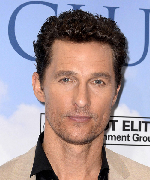 Matthew McConaughey Short Curly Casual  - Dark Brunette