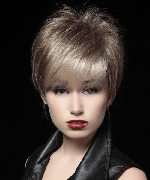 Short Straight Formal Pixie Hairstyle - Light Brunette (Ash) Hair Color