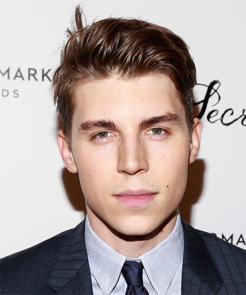 Nolan Gerard Funk Short Straight Hairstyle - Medium Brunette