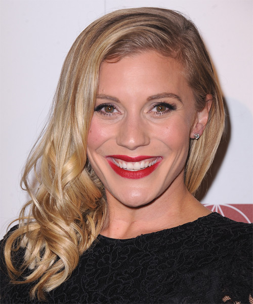 Katee Sackhoff Long Wavy Hairstyle - Medium Blonde (Golden)