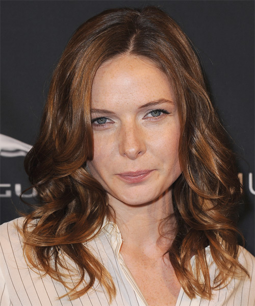 Rebecca Ferguson Long Wavy Hairstyle - Medium Brunette (Auburn)