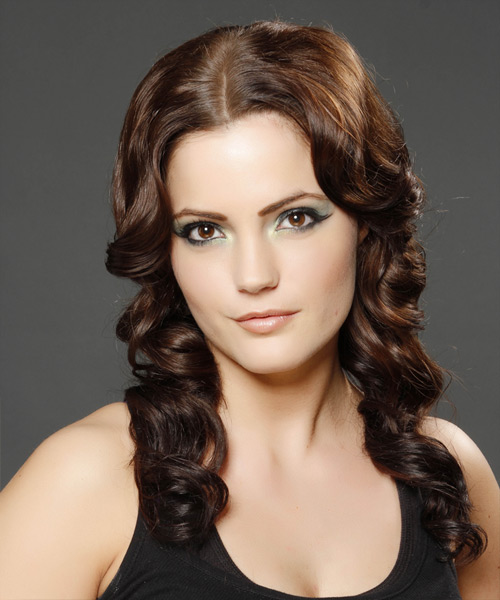 Long Wavy Formal Hairstyle (Chocolate)