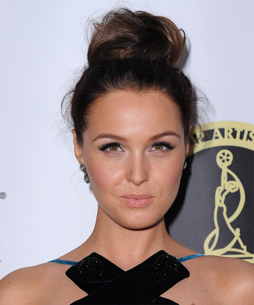 Camilla Luddington Updo Long Straight Formal Wedding Updo - Dark Brunette
