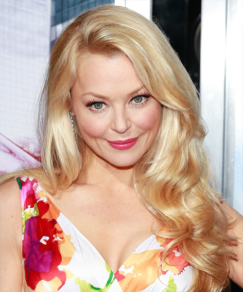 Charlotte Ross Long Wavy Formal Hairstyle - Light Blonde (Honey) Hair Color