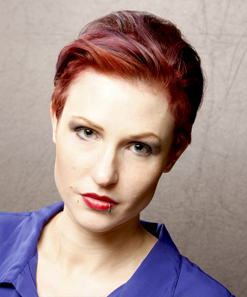 Short Straight Casual Hairstyle - Medium Red Hair Color
