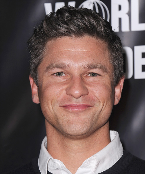 David Burtka Short Straight Hairstyle - Dark Grey