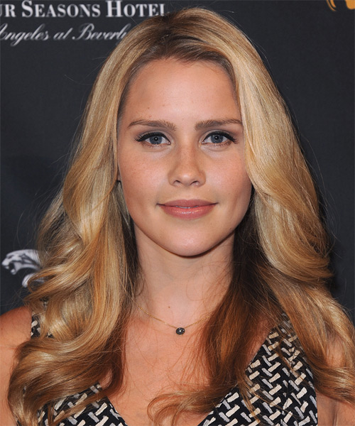 Claire Holt Long Straight Casual Hairstyle - Medium Blonde (Honey) Hair Color