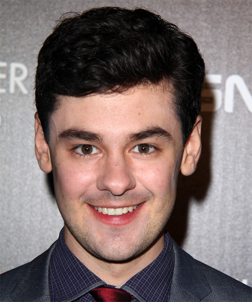 Brendan Robinson Short Wavy Formal Hairstyle - Dark Brunette Hair Color