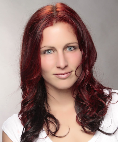 Long Wavy Casual Hairstyle - Medium Red Hair Color