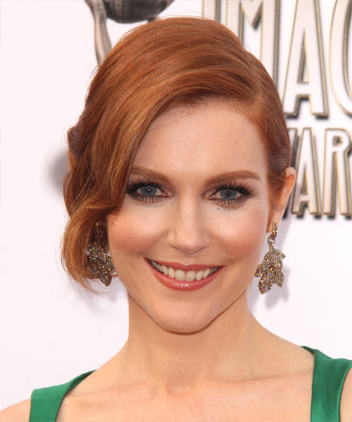 Darby Stanchfield Formal Curly Updo Hairstyle - Medium Red (Ginger)