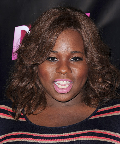 Alex Newell Medium Wavy Hairstyle - Medium Brunette (Chocolate)